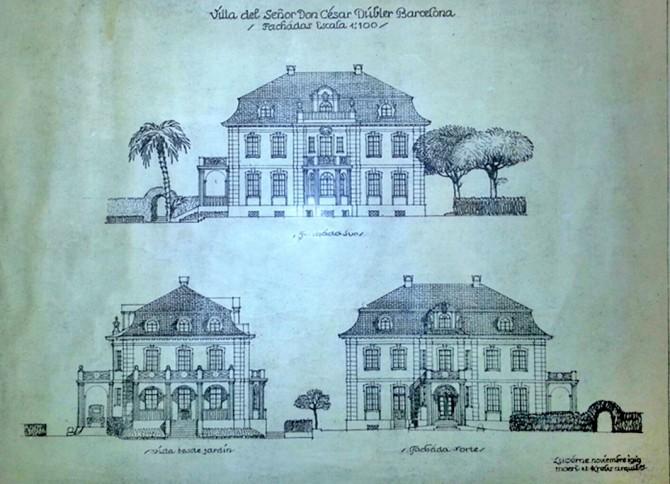 Primera proposta dels arquitectes Möri i Krebs, l'any 1919